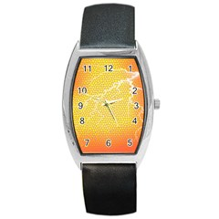 Exotic Backgrounds Barrel Style Metal Watch