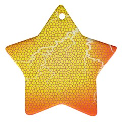 Exotic Backgrounds Star Ornament (Two Sides)