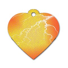Exotic Backgrounds Dog Tag Heart (one Side)
