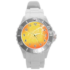 Exotic Backgrounds Round Plastic Sport Watch (L)