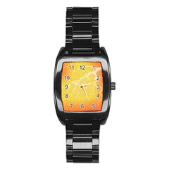Exotic Backgrounds Stainless Steel Barrel Watch