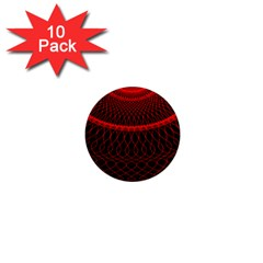 Red Spiral Featured 1  Mini Magnet (10 pack)
