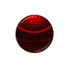 Red Spiral Featured Hat Clip Ball Marker (10 pack)