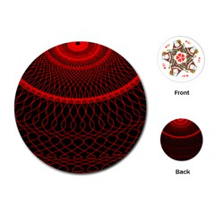 Red Spiral Featured Playing Cards (Round)