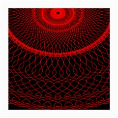Red Spiral Featured Medium Glasses Cloth