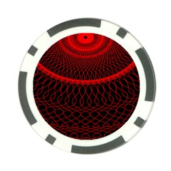 Red Spiral Featured Poker Chip Card Guard