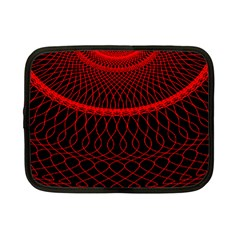 Red Spiral Featured Netbook Case (Small)