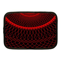 Red Spiral Featured Netbook Case (Medium)