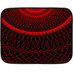Red Spiral Featured Double Sided Fleece Blanket (Mini)