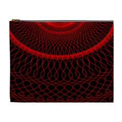 Red Spiral Featured Cosmetic Bag (XL)