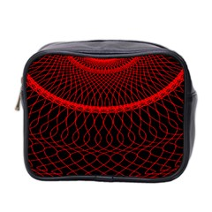 Red Spiral Featured Mini Toiletries Bag 2-Side