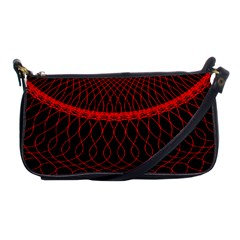 Red Spiral Featured Shoulder Clutch Bags