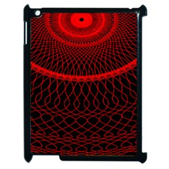Red Spiral Featured Apple Ipad 2 Case (black)