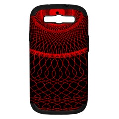 Red Spiral Featured Samsung Galaxy S Iii Hardshell Case (pc+silicone)