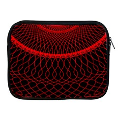 Red Spiral Featured Apple Ipad 2/3/4 Zipper Cases