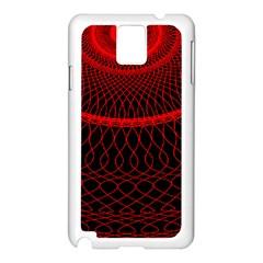Red Spiral Featured Samsung Galaxy Note 3 N9005 Case (White)