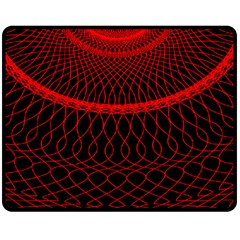 Red Spiral Featured Double Sided Fleece Blanket (Medium)