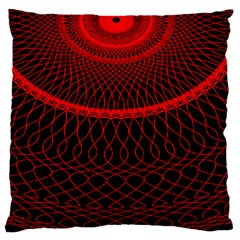 Red Spiral Featured Large Flano Cushion Case (Two Sides)