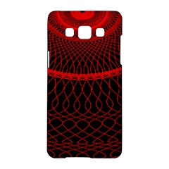 Red Spiral Featured Samsung Galaxy A5 Hardshell Case