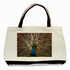 Indian Peacock Plumage Basic Tote Bag