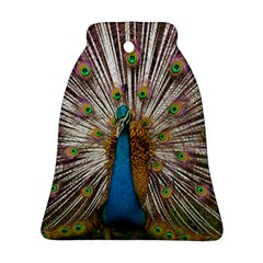 Indian Peacock Plumage Bell Ornament (Two Sides)