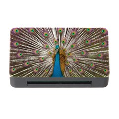 Indian Peacock Plumage Memory Card Reader with CF