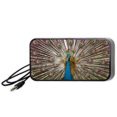 Indian Peacock Plumage Portable Speaker (Black)