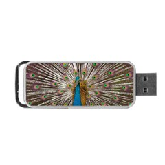 Indian Peacock Plumage Portable USB Flash (One Side)