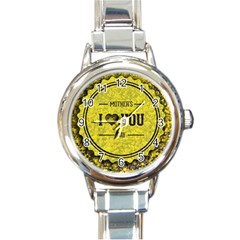 Happy Mother Day Round Italian Charm Watch