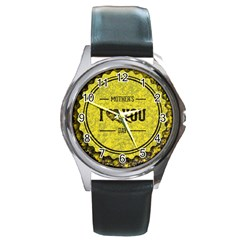 Happy Mother Day Round Metal Watch