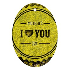 Happy Mother Day Ornament (Oval)
