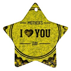 Happy Mother Day Ornament (Star)