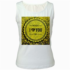 Happy Mother Day Women s White Tank Top