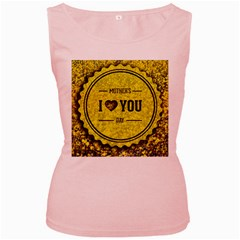 Happy Mother Day Women s Pink Tank Top