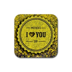 Happy Mother Day Rubber Square Coaster (4 pack)