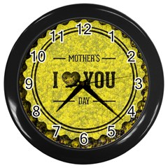Happy Mother Day Wall Clocks (black)