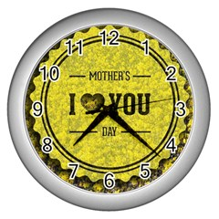 Happy Mother Day Wall Clocks (Silver)