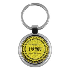 Happy Mother Day Key Chains (round)