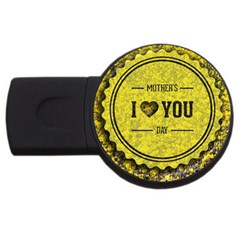 Happy Mother Day Usb Flash Drive Round (2 Gb)