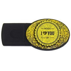 Happy Mother Day Usb Flash Drive Oval (2 Gb)