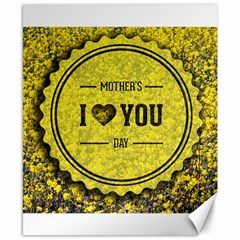 Happy Mother Day Canvas 8  x 10