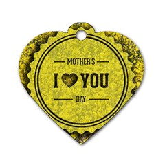 Happy Mother Day Dog Tag Heart (Two Sides)