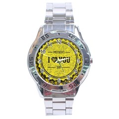 Happy Mother Day Stainless Steel Analogue Watch