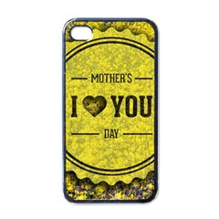 Happy Mother Day Apple Iphone 4 Case (black)