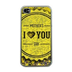 Happy Mother Day Apple iPhone 4 Case (Clear)