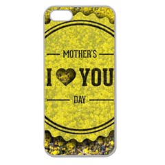 Happy Mother Day Apple Seamless iPhone 5 Case (Clear)