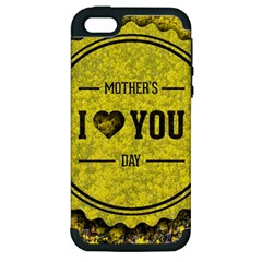 Happy Mother Day Apple iPhone 5 Hardshell Case (PC+Silicone)