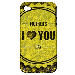 Happy Mother Day Apple iPhone 4/4S Hardshell Case (PC+Silicone)