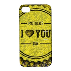 Happy Mother Day Apple iPhone 4/4S Hardshell Case with Stand