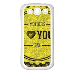 Happy Mother Day Samsung Galaxy S3 Back Case (White)
